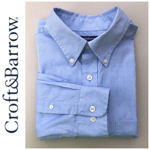 👕 Blue Croft & Barrow Easy Care Classic Fit 34/35